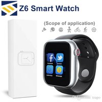 Wholesale white smart watch resale online - Z6 Sport Smart Watch Bluetooth Fitbit Tracker With Camera Touch Screen Smartwatch inch Support Android Phone Remote control DZ09