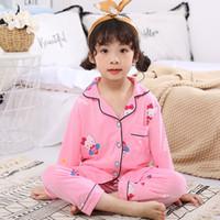 Wholesale suit pijamas for sale - Group buy Autumn Winter Children Pajamas Halloween Cartoon Kids Sleepwear Cotton Pyjamas Girls Boy Pijamas Baby Clothes Tops Pant Suit