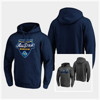 Wholesale nhl hockey hoodie resale online - Customize Heather Gray NHL All Star Game St Louis Pullover Hoodie Jerseys Stitched Mens Womens Youth