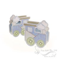 ingrosso favorisce il carrello per bambini-Wholesale-2016 New Baby Shower Box Lovely Baby Carriage Box bomboniere Baby Shower Bomboniere Scatola regalo, Scatola di caramelle, Bomboniere (set di 12)