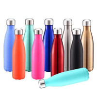 Wholesale best adult bicycle resale online - Cola Cup Coke Bottle Men s Large Stainless Steel Bottle Vacuum Flask Cup Sports Bicycle Water Bottles ml Tumblers Best Quality