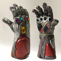 Wholesale gloves b for sale - Group buy 2 Color Avengers Endgame Thanos Iron Man gloves New Children s adult Halloween cosplay Natural latex Infinity Gauntlet Toys B