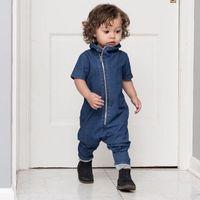 bebe bodysuit toptan satış-Kovboy Tarzı Yeni Doğan Bebek Giysileri Ropa Bebe Yaz Kısa Kollu Romper Tulum Pamuk Bebek Onesie 12 M-3 T Tulum Bodysuit
