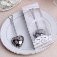 düğün iyiliği çay infuser toptan satış-Paslanmaz Çelik Kalp Şekli Çay Demlik Çay Topu Yenilik Çay Parti Malzemeleri Misafirler için Düğün Hediyeleri Düğün Iyilik 20 adet / grup