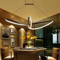 modern alüminyum avizeler toptan satış-Modern Minimalist led kolye ışık Alüminyum Infinity Süspansiyon Asılı Oturma Odası Kapalı Aydınlatma Armatürü Için Avizeler AC90-265V