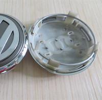 ingrosso le ruote del centro ruota emettono-TAPPI CENTRALI RUOTE COPERCHIO CERCHIO 77mm argento per Volkswagen PASSAT Jetta GOLF Stemmi emblemi Distintivo
