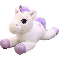 мягкие игрушки оптовых-2019 New Lovely 60/80/110cm  Plush Toys Soft Stuffed Cartoon  Dolls Cute Animal Horse Toys for Children Girls gift