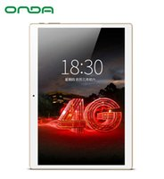 Wholesale tablet pc gsm resale online - 10 inch Onda V10 G Phone Call tablet PC MTK6753 Octa Core IPS GB Ram GB Rom Dual SIM Dual WiFi GPS LTE WCDMA GSM
