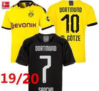 camisa reus venda por atacado-novo Borussia Dortmund camisas de futebol GOTZE REUS 19/20 BVB camisa de futebol novo HOME camiseta de futbol maillot BVB FUTEBOL JERSEYS