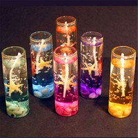 Wholesale candle waxing for sale - Group buy Creative Scented Jelly Candle Glasses Cup Shaped Transparent Diy Aromatherapy Candles For Birthday Christmas Party Decorations dg E1
