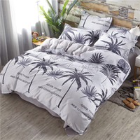Wholesale tree king size bedding sets resale online - Coconut Tree Bedding Set Queen Size Fresh Creative Duvet Cover Hawaiian King Full Twin Single Comfortable Bed Cover with Pillowcase