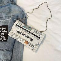 sacos de jornais venda por atacado-Jornais de Embreagem Dia Sacos de Embreagem Carta Envelope Saco de Ombro Casuais Sacos de Noite Com Roupas Carteira MX190725