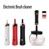 ingrosso componga la spazzola pulita-Moda Eelectronic Spazzola per trucco e asciugabiancheria Macchina per la pulizia Polvere Ombretto Evidenziatore elettronico per trucco