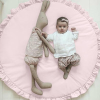 Wholesale carpet gym baby resale online - Crawling carpet Soft Cotton Baby Kids Game Gym Activity Play Mat Crawling Blanket Floor Rug New cm x cm Crawl Rug Dropship