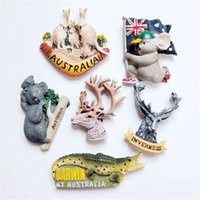 ingrosso souvenir animali-Australia Finlandia Turismo Souvenir Magnetico Big Darwin Bandiera Di Koala Animale Forma Sticker Frigorifero Magnete Resina Decorare Domestico 5 88jyE1