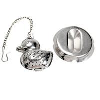 ingrosso ducklings-Anatroccolo Teas Maker Acciaio inossidabile Tè infusore Ambiente Protezione Creativo Argento con catena Home Life Supplies Durevole 6 5bzC1