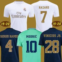 xxl thai soccer al por mayor-Top 2019 2020 HAZARD camisetas de fútbol real madrid tercera distancia camiseta de verde ISCO SERGIO RAMOS player version soccer jersey football shirt 18 19 20 los niños maillots