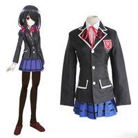 ingrosso data cosplay dal vivo-Costumi cosplay di Tokisaki Kurumi Gonna uniforme Anime giapponese DATE A LIVE abbigliamento Costumi di Halloween Spot supply
