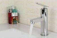 bacia de faucet termostática venda por atacado-Torneira Misturadora Torneira Misturadora de Banheiro de Aço inoxidável Torneira de Água Quente e Fria + 2 pcs Mangueiras