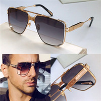 Wholesale golden end for sale - Group buy Top men glasses THE DAWM design sunglasses square K gold hollow frame high end top quality outdoor uv400 eyewear