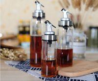 Wholesale kitchen oil dispenser resale online - Cooking Bottle Dispenser Sauce Bottle Glass Storage Bottles for Oil and Vinegar Creative Kitchen Tools Accessories