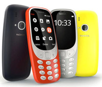 teléfonos wcdma gsm dual sim al por mayor-Reacondicionado original Nokia 3310 2017 desbloqueado teléfono celular 3G WCDMA 2G GSM 2.4 pulgadas 2MP cámara Dual Sim