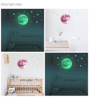 Wholesale designer for home decor for sale - Group buy 12 styles cm luminous moon earth wall stickers for kids bedroom Decoration designer luxury home decor art pictures Wallpaper paintings
