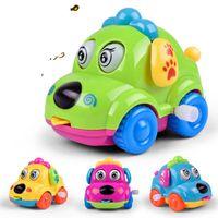 tiere räder großhandel-Cartoon Hot Wheels Tier Hund Schöne Spielzeugauto Kunststoff Originalität Uhrwerk Frühling Obere Kette Spielzeug Autos Jungen Mädchen Geschenke 2 35lh N1