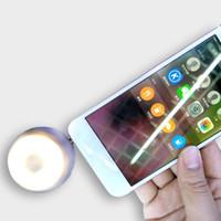 fotografía de iluminación de foco al por mayor-Fotografía LED universal Luz de flash Luz de foco Cámara Teléfono Relleno Selfie Light + 3.5mm Altavoz portátil Amplificador de audio para iPhone Samsung