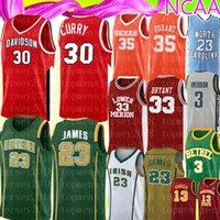 ingrosso ricamo pallacanestro jersey curry-NCAA Stephen Curry 30 Mens 35 Kevin Durant Jersey liceo 23 LeBron James marchi del ricamo del pullover di pallacanestro