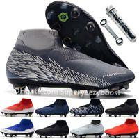 Scarpe da calcio di alta qualità Black Lux Phantom VSN Elite DF SG UNTICLOT Knit Mens Game Over Furry Charged High Ankle Sock Soccer