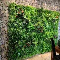 ingrosso tappeto erboso artificiale-Tappeto erboso artificiale per la decorazione della parete di sfondo di simulazione di foglie d'erba