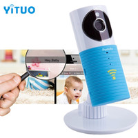 Wholesale day night camera audio resale online - Hot P HD Clever Dog Wifi Home Security IP Camera Baby Monitor Intercom Smart Phone Audio Night Vision mini CCTV with indicator li