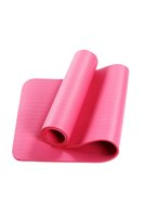 Wholesale beginner yoga resale online - 10mm Thick Yoga Mats Beginner Yoga Sports Exercises Outdoor Indoor Gym Room Fitness Mats Kids Dance Mats With Carring Bag FY6162