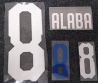 letras de plástico vintage al por mayor-2018 Austria retro impresión blanca nombres de fútbol # 8 ALABA equipo nacional de fútbol estampado letras impresas de plástico vintage pegatinas de fútbol