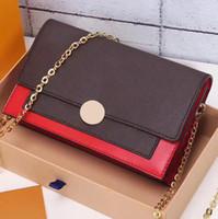 kilitli cüzdanlar toptan satış-Kadınlar mini crossody çanta flore chian çanta uzun cüzdan marka ikonik hakiki deri omuz çantası debriyaj kart tutucu çiçek kilit yeni tasarım
