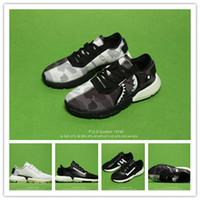 golf köpekbalığı toptan satış-P. O. Sistem Ortak Köpekbalığı Patlamış Mısır Hafif Koşu Ayakkabıları Yeni Sole Benzersiz Segmentasyon Gelecek Teknoloji Geri Palm Boost + Ön Ayak Köpük
