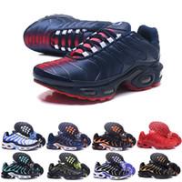 tn ups al por mayor-2017 Nuevo Llega TN Zapatos Casuales Para Hombres, Buena Calidad Entrenadores Tn Lace Up Malla Transpirable Cojín Sport Sneakers Tamaño 40-46
