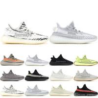 Wholesale new football shoes online - Designer V2 Kanye West New Butter Sesame Cream White Blue Tint Beluga Black Red Bred Designer Mens Running Shoes