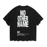 ingrosso magliette urbane di moda-Maglietta con stampa Lettera T Moda 2019 Estate T-shirt uomo Urban Maglietta in cotone largo T-shirt manica corta con stampa oversize