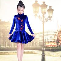 latin dance fashion costumes venda por atacado-Dança Latina Vestido para Meninas Moda Vestidos de Dança de Salão para Crianças Dancewear Crianças Trajes de Performance de Palco
