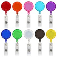 Wholesale retractable reels clips resale online - Retractable Anti Lost Clip Buckle Security Card Badge Holder Reels Ski Pass ID Card KeyChain Ring Reels Clip