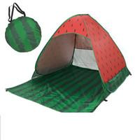 yukarı çadırlar toptan satış-Plaj Çadır Pop Up Plaj Çadır karpuz Hızlı Güneş Barınak Katlanır Bahçe Mobilyaları Açık Kamp Çadırı KKA7009