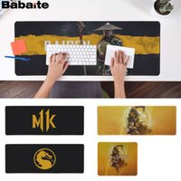 maus mousepad großhandel-Babaite New Designs Mortal Kombat 11 Locking Edge-Mouse Pad Spiel Gummi PC Computer Gaming Mousepad