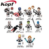 brinquedo do filme do super-herói venda por atacado-Super heróis da Marvel Infinito Guerra Guardiões da Galáxia Vingadores: Endgame Filmes de Vídeo Jogo Dos Desenhos Animados Blocos Brinquedos Figuras Kopf Blocos KF769