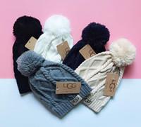 beanies novos quentes venda por atacado-Venda quente nova marca de tricô chapéus Beanie cap inverno das mulheres dos homens de malha outono chapéus quentes gorros 5 cores 05