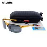 sürücü hd toptan satış-Erkek Alüminyum Magnezyum Havacılık Alaşım HD TAC Erkek Spor Retro Dikdörtgen Güneş Gözlüğü Polarize Güneş Gözlüğü Güneş Gözlükleri Çekim Sürücü Balıkçılık