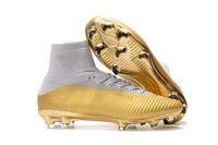 en iyi futbol botları toptan satış-En iyi Orijinal Klasik Stil Mercurial Superfly V TF / IC FG Futbol Ayakkabı Açık Erkek FG Futbol Ayakkabı Tasarımcısı FG Futbol Çizmeler Cleats