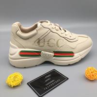 111df19b7ea271 Gucci 2019 NOUVEAU Marque Designer Chaussures Hommes Ryton Los Angeles LA  Baskets Imprimées Femmes New York High Aidez GG Print Training Shoes  Chaussures De ...