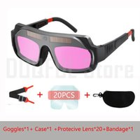 óculos de solda solar venda por atacado-Solar automático dimmer óculos de proteção de gás soldada a arco de argônio polimento corte soldador óculos de proteção anti-reflexo olho proteger a segurança do trabalho
